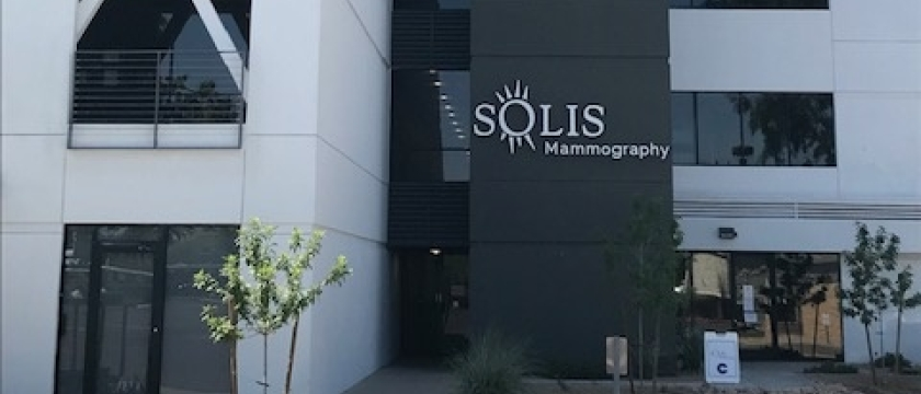 Solis Mammography Phoenix Building Signage